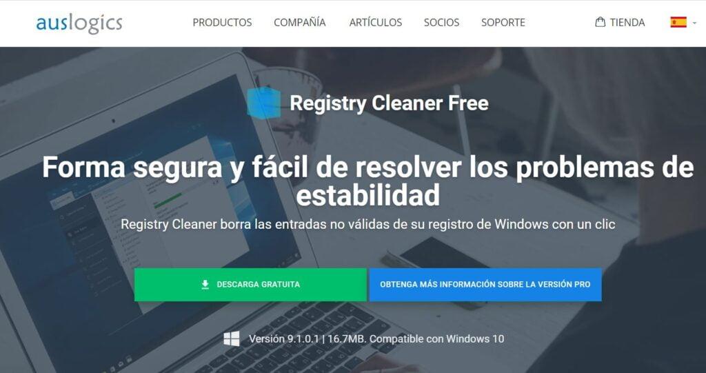 mejor limpiador de registro para Windows 10